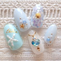 Fräńçęščå Güēłį - Nail Art we love - - - Fräńçęščå Güēłį - Nail Art we love - - nailart Teal Nail Art, Teal Nails, Diy Nails, Nail Art Designs, Nails Design, Nail Art Halloween, Kawaii Nails, Mermaid Nails, Trendy Nail Art
