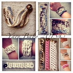 SEVEN Crochet Bracelet Patterns by Shannon @ My Yarn Baby