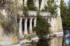 With every passing day, theChâteau de la Mothe-Chandeniers falls further into ruin; another stone becomes dislodged by strangling vines, what remains of th