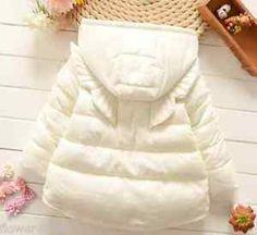 Girls winter coat Kids Wings Hooded Warm Coat Christmas Gift 12M - 4 | eBay