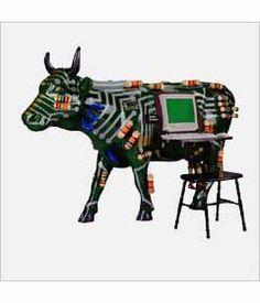 CowParade Kansas City cow detail - Cowputer 2001