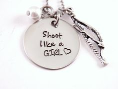 Shoot+Like+A+Girl++Bow+Hunting++Hand+Stamped+by+Stampressions,+$26.00