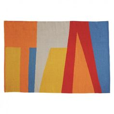 The Sierra medium multi-coloured flat weave rug features a large, bold abstract design, hand woven in a wool-rich blend. Buy now at Habitat UK. Vibrant Colors, Colours, Small Space Living, Living Spaces, Living Room, Painting Tips, Modern Rugs, Soft Furnishings, Rug Runner