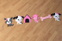 Large puppy dog party banner