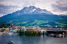 At the foothills of picture-perfect Mount Pilatus sits Lucerne Switzerland which offers an ideal mix of city slicking and outdoor living. Capital Of Switzerland, Lucerne Switzerland, Road Trip France, Lido Beach, Seen, Swiss Alps, Lausanne, Water Tower, Basel