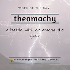 Our #wordoftheday is theomachy. Sign up for more at our website (link in bio). . . #words #dictionary #wotw #macquariedictionary #english #language #vocabulary #learning #writing #wordnerd #funfact #didyouknow #aussie #urban #rural #etymology #oz