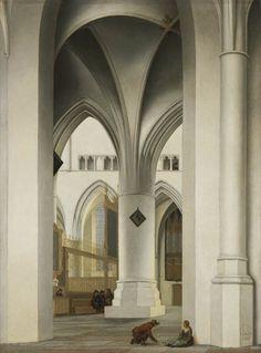 Pieter Saenredam (Assendelft 1597-1665 Haarlem) Le Choeur de l'église Saint-Bavon à Haarlem, vue de la Kerstkapel Panneau, 49 x 36,6 cm ; signé et daté 1636