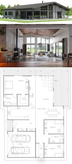 My Pins Small house plans 610097080749924660 Residential Architecture House Pins Plans Residential Architecture single story Small One Level House Plans, House Plans One Story, New House Plans, Story House, Modern House Plans, Small House Plans, Modern House Design, House Floor Plans, Mini House Plans