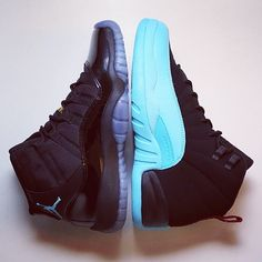 "Air Jordan 11s & 12s ""Gamma Blue"" ❤️Pinterest: Jayde S."