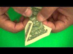 Origami money weiner dog for my friend Annie. Origami Gifts, Dollar Origami, Money Origami, Origami Paper, Oragami, Butterfly Video, How To Make Butterfly, Origami Butterfly, Folding Money