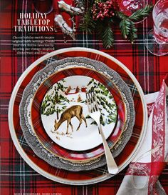 Add some charm to your Christmas table with these easy and economical DIY Plaid Chargers. I teamed up with Hallmark to bring you this fun video tutorial! Tartan Christmas, Christmas China, Christmas Dishes, Merry Little Christmas, Noel Christmas, Country Christmas, All Things Christmas, Xmas, Christmas Table Settings