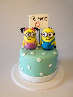 Minion love by Cake Mania Ec!