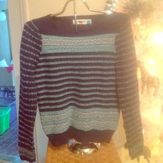 Anthropologie Sparrow sweater Cotton wool bend sweater by Sparrow. Size small. Fits like Xsmall. Beautiful design and pattern. Never worn Anthropologie Sweaters Crew & Scoop Necks