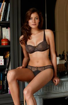 Tresor Plunge Bra  Pretty and feminine plunge Bra by French brand Barbara. Leavers lace combined with a very soft microfiber, plays with delicacy, transparency and gloss.  Sophisticated style with perfect finishing touches, provide ultimate beauty and well-being.  Removable pads in A & B cups. Neckline and straps in microfibre for softness. Incrusted back all in lace