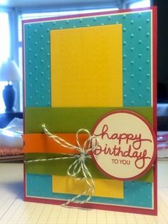 Bright Birthday card {scrap and stamp with mary}: Two Cards, One Sketch - All Shook Up from Paper Pumpkin