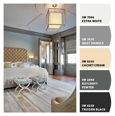love the gray trim. Paint colors from Chip It! by Sherwin-Williams