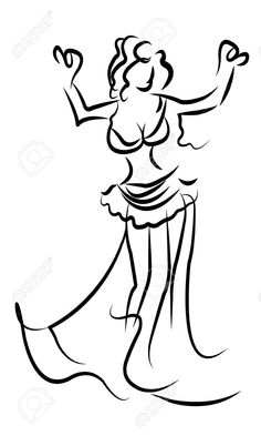 Belly Dancer Vector Royalty Free Cliparts, Vectors, And Stock Illustration. Black Paper Drawing, Black And White Drawing, Dance Images, Dance Pictures, Stick Figure Drawing, Figure Drawings, Dance Silhouette, Dancing Figures, Dancing Drawings