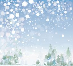 Beautiful winter natural vector backgrounds 01
