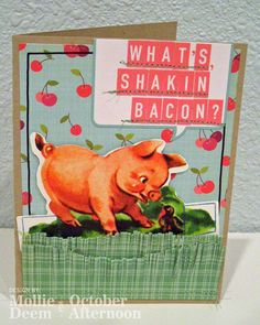 This fun card was made by guest designer Mollie Deem