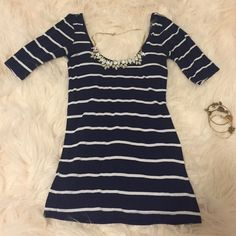 ✨Nollie Scoop Neck Striped Top Soft & Stretchy! Perfect with white jeans for summer. EUC Nollie Tops Blouses