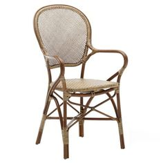Rossini armchair A classic, robust and very comfortable armchair made out of Natural Rattan. The Rossini chair is perfect for your covered patio or indoor areas. Material:	Natural Rattan Size:	W: 540 D: 550 H: 930