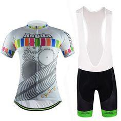 Men's White Short Sleeve Cycling Jersey Set #Cycling #CyclingGear #CyclingJersey #CyclingJerseySet