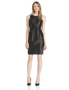 Fitted Dress with Piping and Pockets by Vince Camuto