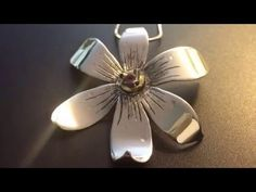 Narcissus flower Sterling Silver 9.25 jewelry pendant - YouTube