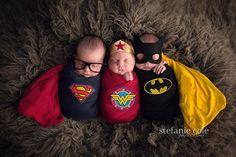 Because, even superheroes need their rest. by Stefanie Cole Photography . . . #ctbabyphotographer #ctnewbornphotographer #multiplesinspire @multiplesinspire #best_newborn_photo #newbornposing #newborntriplets #newbornphotography #newbornsession #triplets #babiesofinstagram #babiesofig #superhero #batman #wonderwoman #superwoman #marvel #superheronewborn