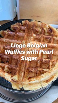 Waffle Taco, Waffle Iron, Breakfast Recipes, Dessert Recipes, Desserts, Bourbon Cherries, Cherry Syrup, Pearl Sugar, Shrimp Soup