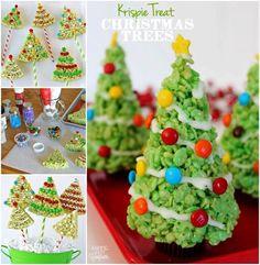 Creative Ideas - DIY Rice Krispie Treat Christmas Tree
