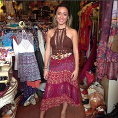 Ximena looks stunning in her new halter and skirt and belt from the shop!