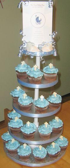 baptism cupcakes for boys | Baptism Cupcakes for a Boy
