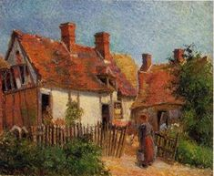 Old Houses at Eragny - Camille Pissarro - The Athenaeum