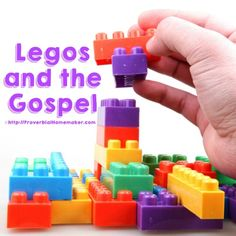 Legos and the Gospel! Use Legos to teach your child the gospel in a way that they will understand and remember.