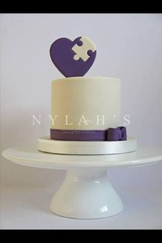 Piece of My Heart Cake | Nylah's Designer Cakes @Marsha Penner Bogardus -reminded me of you!