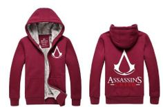 Leecos Assassin's Creed Winter Plus Velvet Sweater Zipper Cardigan Sweater Sweater Cardigan, Assassins Creed Hoodie, Assassin's Creed, Zipper, Hoodies, Amazon, Sweaters, How To Wear, Sweater