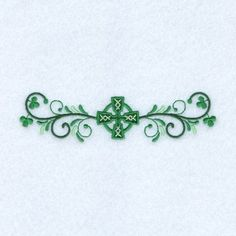 Embroidery Designs Embellishments Embroidery Design: Irish Cross Line from Starbird Inc - Celtic Tattoo For Women Irish, Celtic Cross Tattoos, Cross Tattoos For Women, Tattoos For Women Small, Celtic Clover Tattoos, Tribal Tattoos, Tattoos Skull, Wrist Tattoos, Zodiac Tattoos