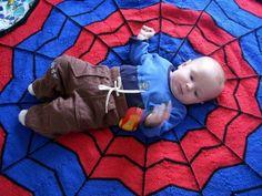 Spiderman Knitted Blanket Free Pattern