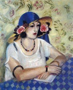 An Italian woman in a straw hat  Henri Matisse (1869-1954)