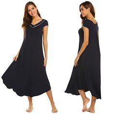 8a2555859dee Adidome Women's Cotton Victorian Vintage Nightgown Cap Sl... https://www