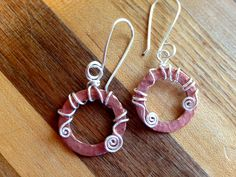 Wire wrapped copper washers by Kris Baer