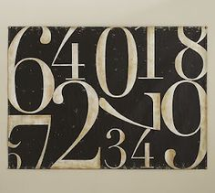 Pottery Barn Numbered Board