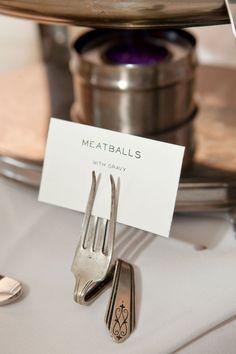 Our DIY Food Label Holders. Meatballs!