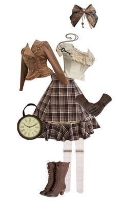 """""""Steam Lolita Coord 9"""" by sakuuya ❤ liked on Polyvore featuring women's clothing, women, female, woman, misses and juniors"""