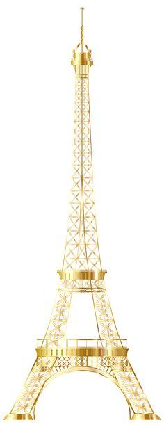 Eiffel Tower Gold No Background by GDJ