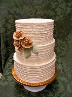 shabby chic casual elegance wedding cake