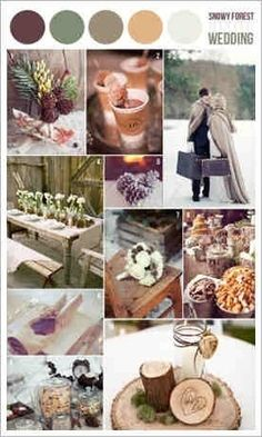 Perfect for those winter weddings that don't  want the ice white or Christmas themed day!   woodsy winter wedding
