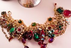 Victorian Christmas Repurposed Vintage Jewelry by Modulation, $80.00