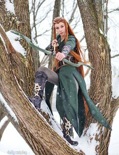 Tauriel from The Hobbit The Desolation of Smaug | via Daily Cosplay